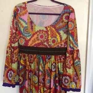 Faux Vintage 1970s Dress